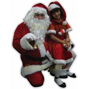 Roupa Papai Noel Veludo Completo Super Luxo Fantasia Natal