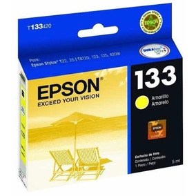 Cartuchos Epson 133 Amarelo Para Tx235w Tx420w Tx430w Tx320f