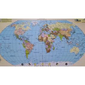 Quadro Mapa Mundi Magnético Para Uso De Imãs
