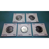 Monedas 1 Peso Chile - 1954 - 1958 Serie Completa / Km#179a