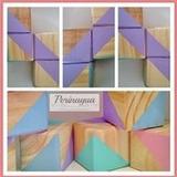 Cubos De Madera Con Diseño
