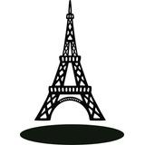 30 Centro Mesa Torre Eiffel Mdf Cru De 3 Mm 30 Cm Altura