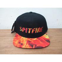 Boné Spitfire Starter Firefog Preto Skate Snapback Original