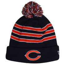 Chicago Bears New Era Beanie Gorro Lana Pom Con Polar Nfl