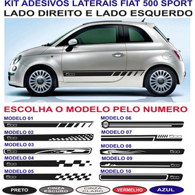 Acessorios Fiat 500 Faixa Adesivo Lateral Sport