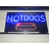 Anuncios Luminosos De Leds Hot Dogs, Hamburguesa, Café