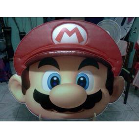 Mario Bross Cabecera Infantil Acojinada, Con Repujado
