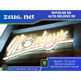 Letras En Bloq 3d,etiquetas,señaletica,rotulos,corte Laser,