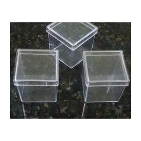 Caixinha Acrílica 4x4 50 Unidades*tubo/tubete/lembrançinhas*