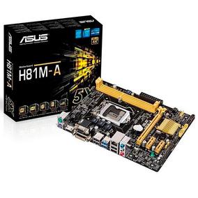 Placa Mãe Asus H81m-a Lga1150 Ultra Dh 4k Hdmi/vga/2 Usb 3.0