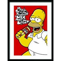 Quadro Decorativo Madeira Duf Homer Simpsons O Melhor Do Ml