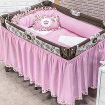 Kit Berço Desmontável Princesa Rosa Para Meninas Algodão
