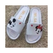Chinelo Sandalia Melissa Beach Slaide Mickey Minnie