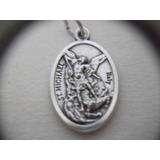 B. Antigo- Medalha Sacra São Miguel Arcanjo E Anjo Da Guarda