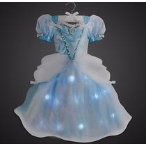 Vestido Cencienta Original Disney Store Con Luces