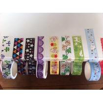 Washi Tape - Durex Colorido, Estampado Fita Decotape