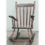 Móvel Em Madeira - Cadeira Balanço Com Cambota Ref. 101