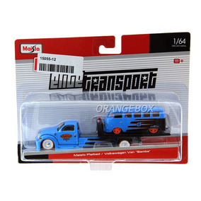 Caminhão Plataforma Flatbed + Kombi Maisto 1:64 15055-12