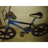 Bicicleta Bmx - Rines De Paleta - Azul Y Negro - Nueva