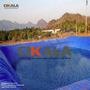 Lona Lago Tanque Criação Peixe Manta Impermeável Rede 8x7 M