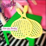 Par De Raquetes ( Tênis ) Para Barbie * Susi * Ken * Blythe