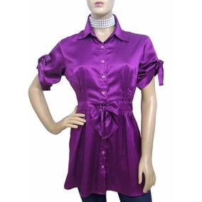 Linda Camisa De Cetim - Usada - Ótimo Estado
