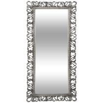 Espelho Com Moldura Decorativa Guerin Prata 178,0 X 80,0 Cm