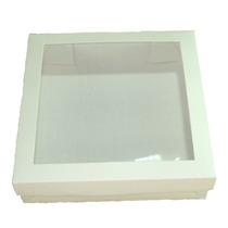 Caixa Para Lembrancinhas - Visor Acetato 15,5x15,5x4 - C/20