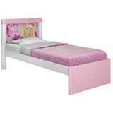 Cama Infantil Barbie Happy Pura Magia Br Branco/rosa Pink