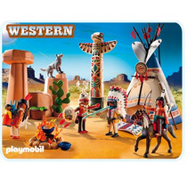Playmobil 5247 Oeste Campo Indio Con Totem