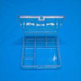 50 Caixa Organizadora Plastico Transparente 6 Divisórias