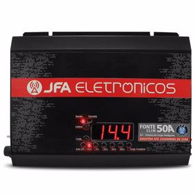 Fonte Carregador Bateria Jfa 50a Slim Bivolt Com Voltímetro