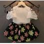 Conjunto Vestido Luxo Menina Infantil Regata + Saia
