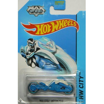 Hot Wheels 2014 Hw Ciudad Tooned 1 Max Steel Moto 85/250