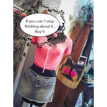 Outfit Blusa Campesina Falda Bolsa De Piel Y Choker + Envío