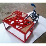 Juego Mesa De Centro Diseño Industrial Moderno Madera Metal