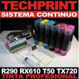 Sistema Continuo T50 Tx720wd Rx610 R290 Tinta Fotografica A1
