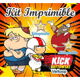 Kit Imprimible Kick Buttowski Candy Bar Fiesta