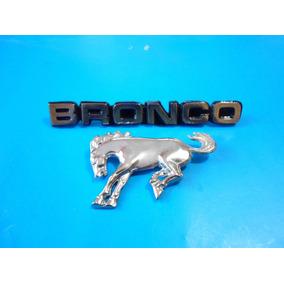 Emblemas Bronco Camioneta Ford Palabra O Caballo