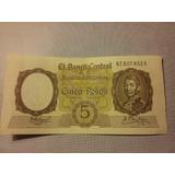 Bottero N 1924. Billete De 5 Pesos Moneda Nacional.