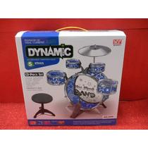 Bateria Musical Dynamic Con 5 Platillos Y Bombo