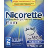 Nicorette Gum Nicotina Menta 2 Miligramos Parar De Fumar