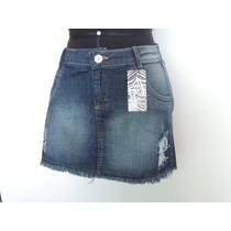 Saia Jeans C/ Puido Promoção De Fábrica 2148