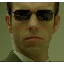 Óculos De Sol Matrix Polarizado Original Agent Smith