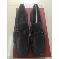 Zapatos Salvatore Ferragamo Mod Mason Col.sunset Blu Calf