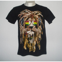 Playera Camiseta León Rastafari Reggae Roots Dub Music