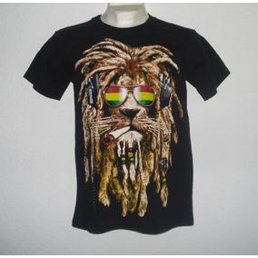 Playera Camiseta León Rastafari Reggae Roots Dub Music