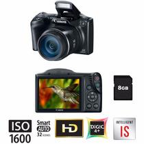 Câmera Digital Canon Sx400is Preta 16mp Zoom Digital 4x 8gb