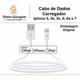 Cabo De Dados Carregador Iphone 5 5s 5c Ipad Air - Original