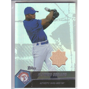 2004 Topps Clubhouse Bat Alfonso Soriano Rangers